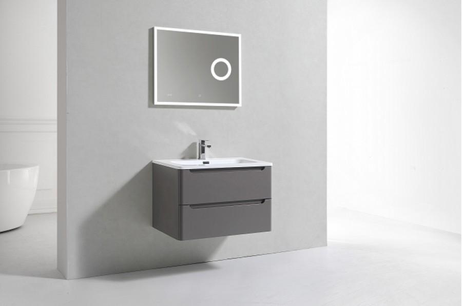 Meuble Simple Vasque 80cm Toola Argile Sans Miroir