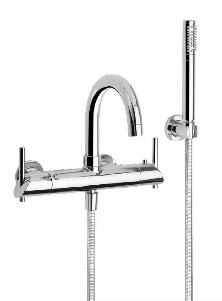 Mitigeur thermostatique bain/douche mural MINOE Chromé - 49.714 CH