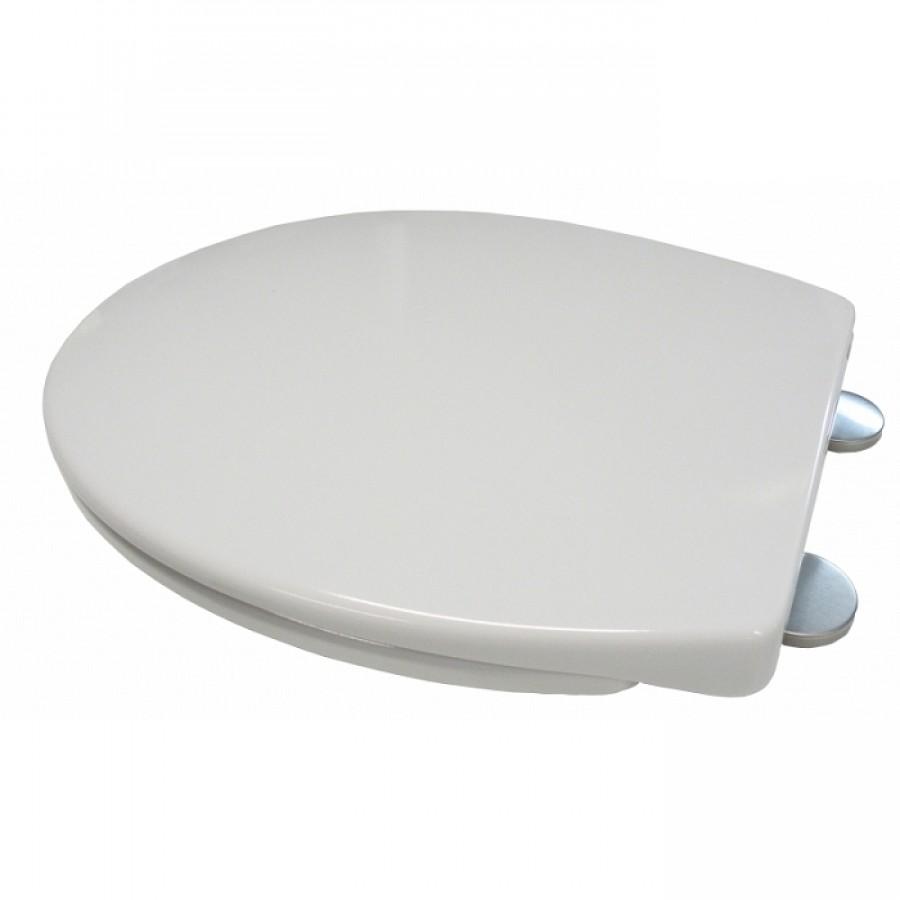 Abattant blanc autoclip avec frein de chute meuble de salle de bain - Abattant wc avec reducteur integre ...