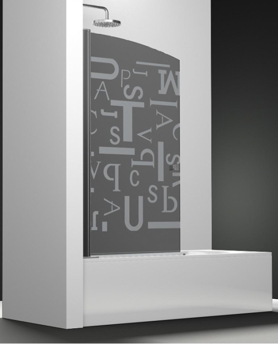 Pare bain arcoiris pivotant verre fum sabl letras 80x150 for Miroir 80x150
