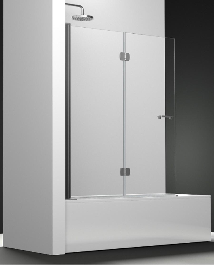 Pare bain arcoiris 2 volets verre transparent 80x150 for Miroir 80x150