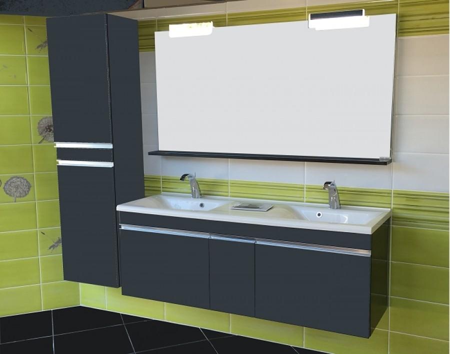 meuble double vasques luxus laqu bloc meuble de salle de bain douche. Black Bedroom Furniture Sets. Home Design Ideas
