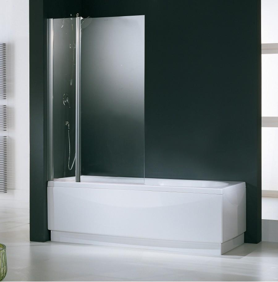 Pare baignoire 2 panneaux aurora 3 transparentsanitaire - Pare baignoire miroir ...