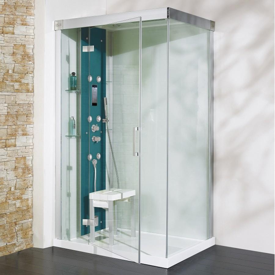 Cabine de douche hydromassante hammam 120x90 kineform - Cabine douche rectangulaire 120 x 90 ...