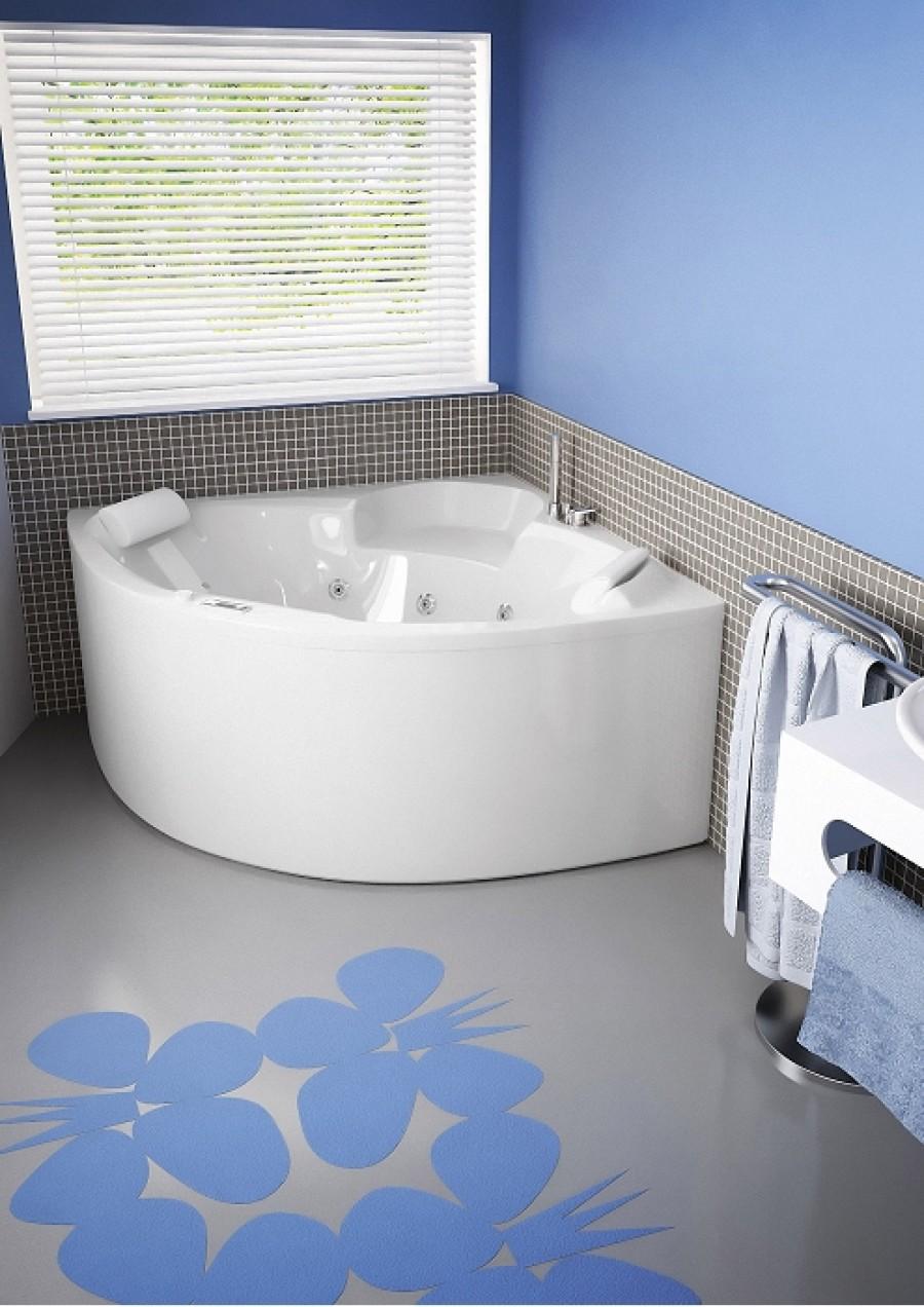baignoire baln o economique star d 39 angle 135x135 star meuble de salle de bain. Black Bedroom Furniture Sets. Home Design Ideas