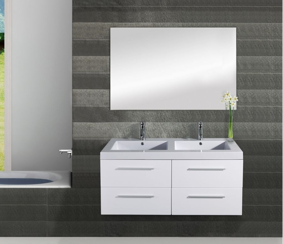 zzzmeuble double vasque saturn 120cm meuble de salle de bain douche. Black Bedroom Furniture Sets. Home Design Ideas