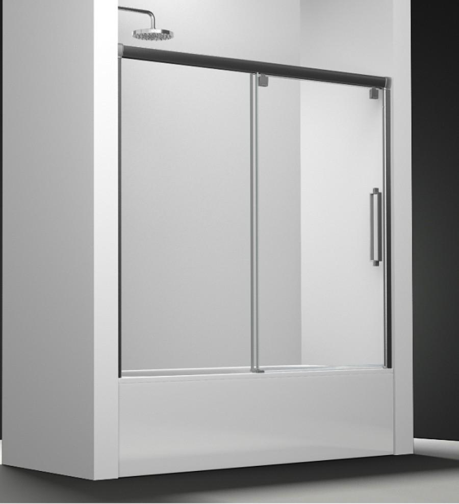 paroi de baignoire transparent 1 panneau coulissant 150cm. Black Bedroom Furniture Sets. Home Design Ideas