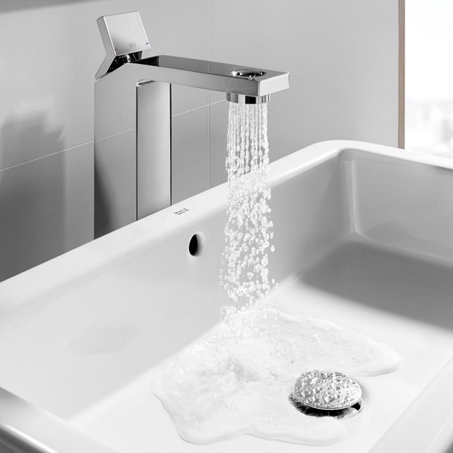 Mitigeur lavabo r hauss avec bec perc open for Meuble sanitaire
