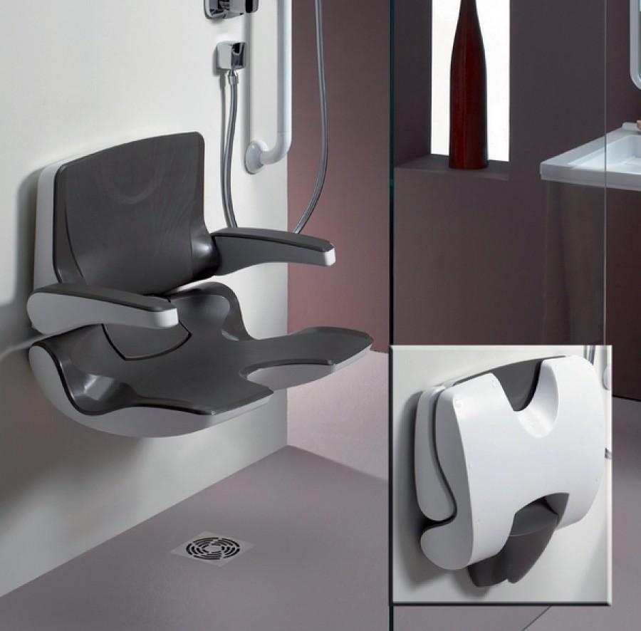 old si ge de douche ergosoft relevable avec dossier et. Black Bedroom Furniture Sets. Home Design Ideas