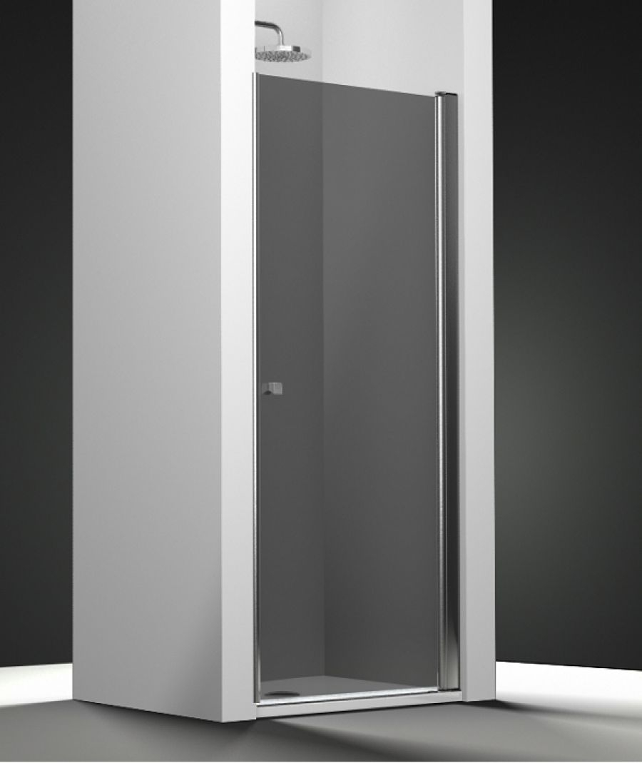 porte de douche pivotante verre fum 80cm meuble de salle de bain douche. Black Bedroom Furniture Sets. Home Design Ideas