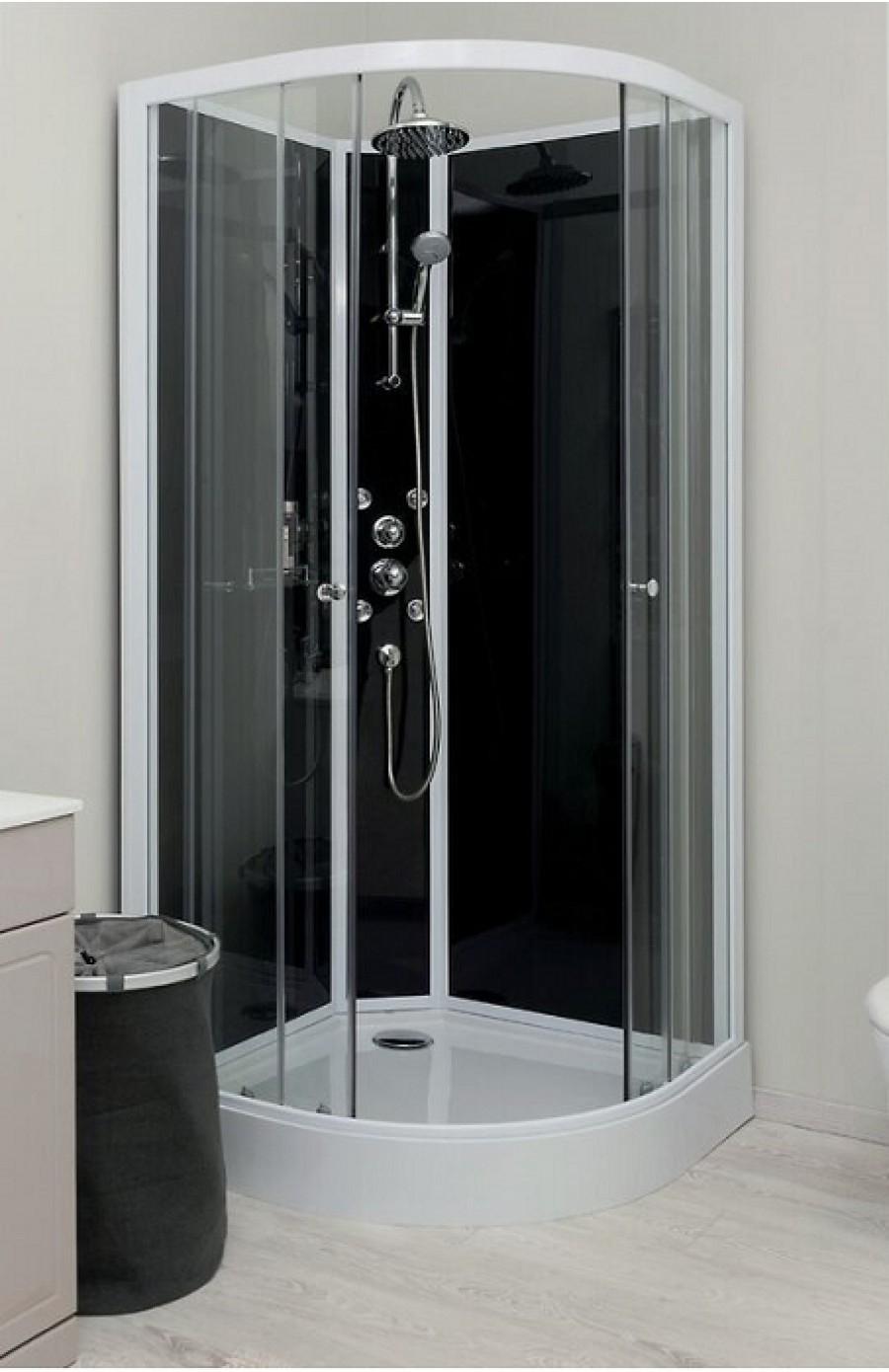 cabine de douche hydro gena grise sans silicone 80 meuble de salle de bain. Black Bedroom Furniture Sets. Home Design Ideas
