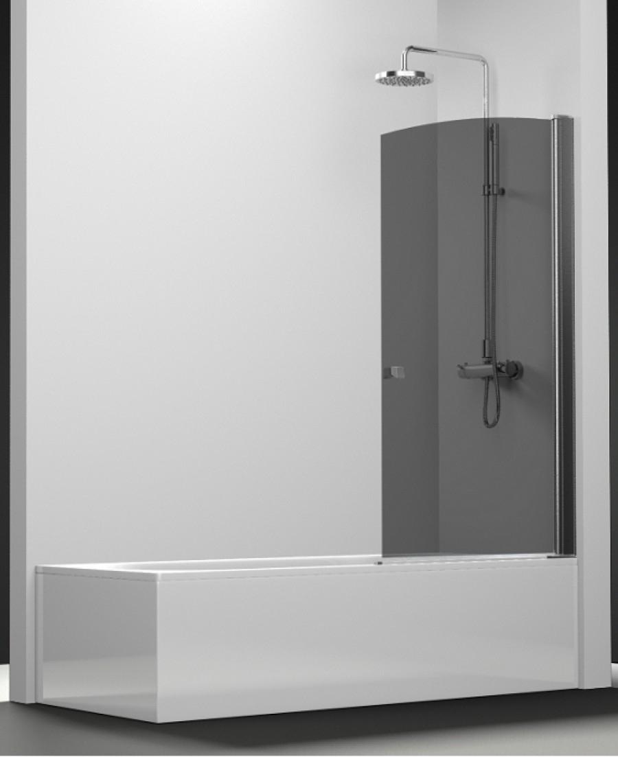 Pare bain arcoiris pivotant verre fum 70x150 for Meuble de douche