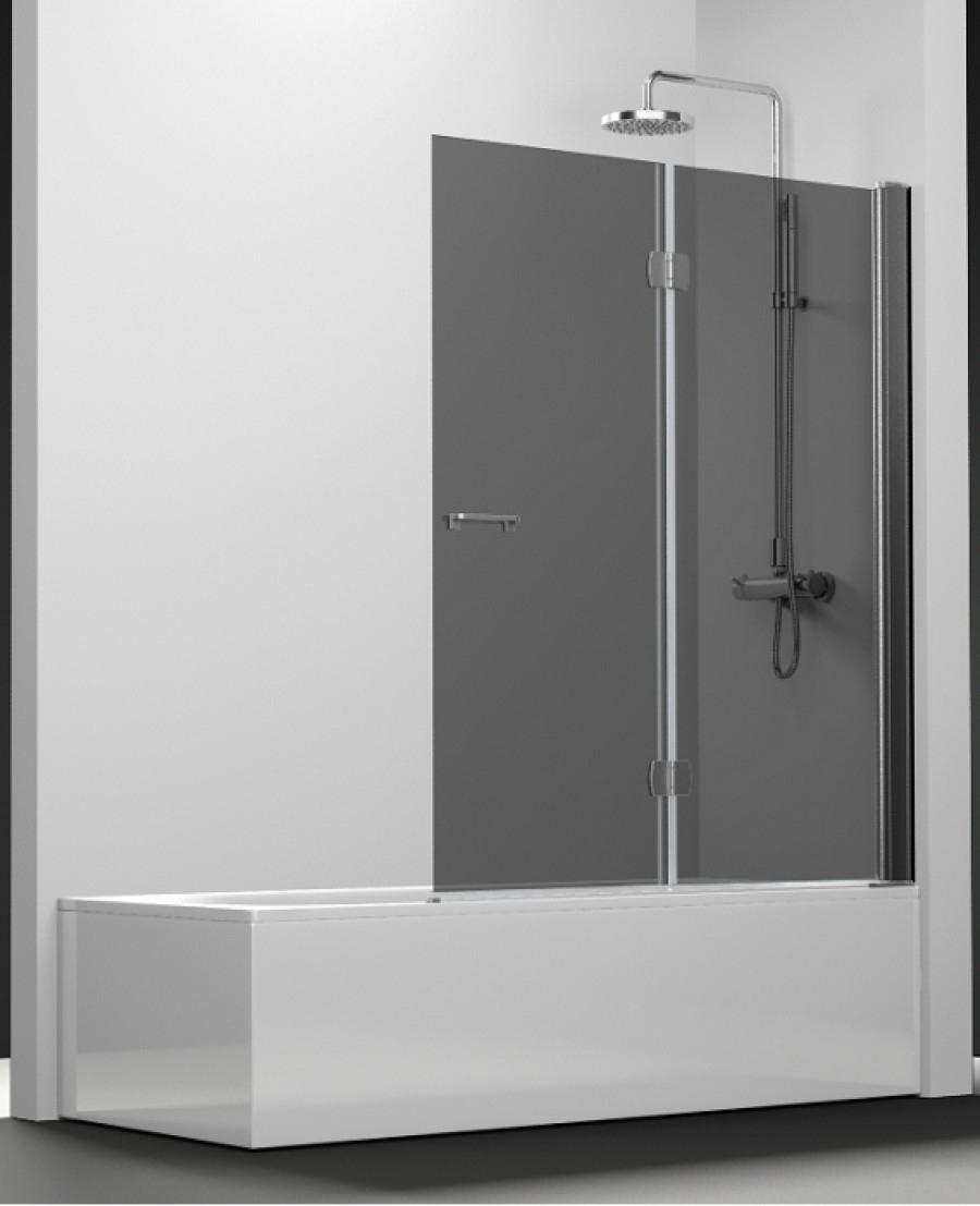 pare bain arcoiris 2 volets verre fum 80x150. Black Bedroom Furniture Sets. Home Design Ideas
