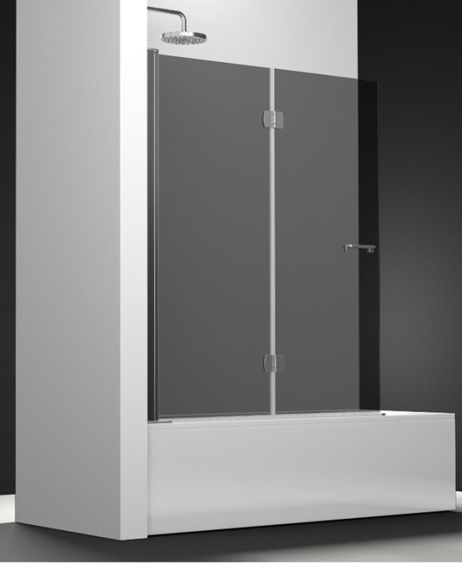 pare bain arcoiris 2 volets verre fum 90x150. Black Bedroom Furniture Sets. Home Design Ideas