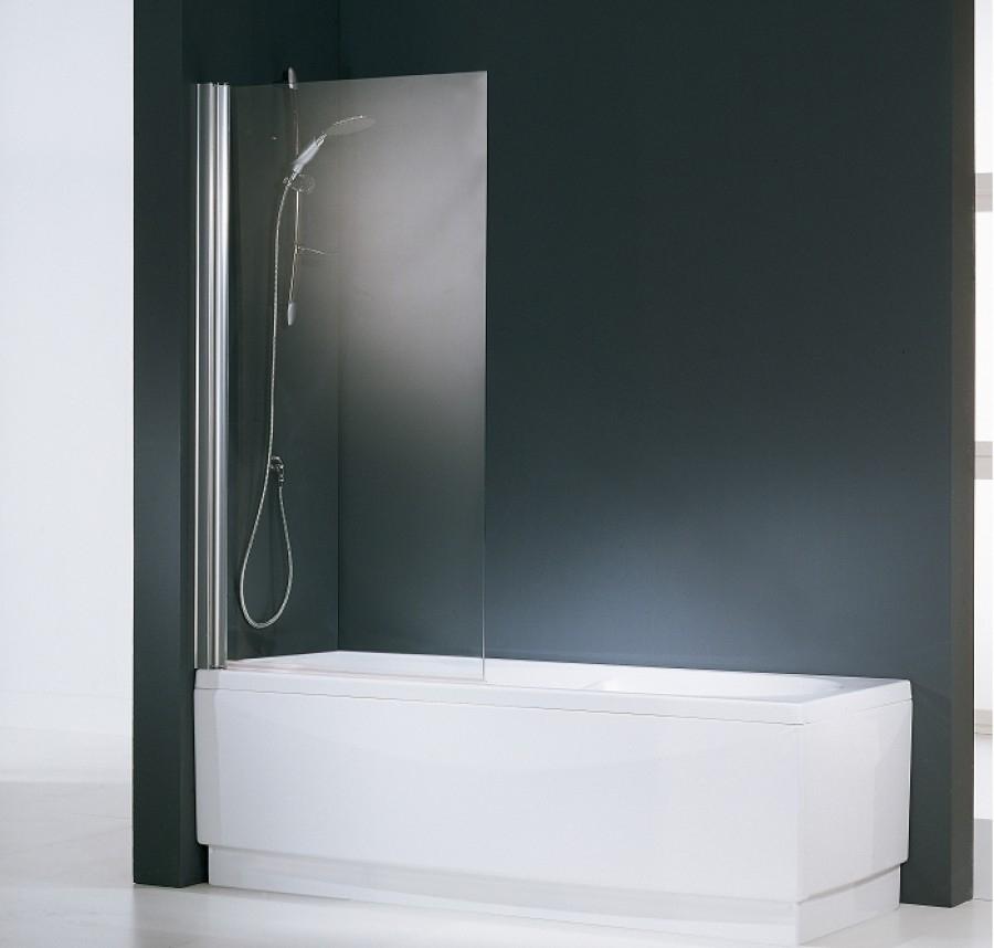 Pare baignoire pivotant aurora 1 transparent meuble de salle de bain douche - Canvas pvc witte leroy merlin ...