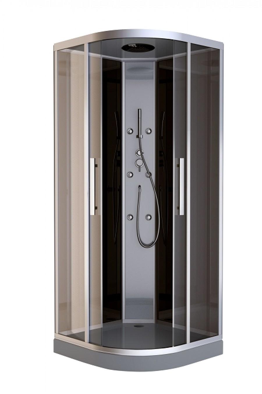 cabine de douche 1 4 rond bali meuble de salle de bain douche baignoire. Black Bedroom Furniture Sets. Home Design Ideas