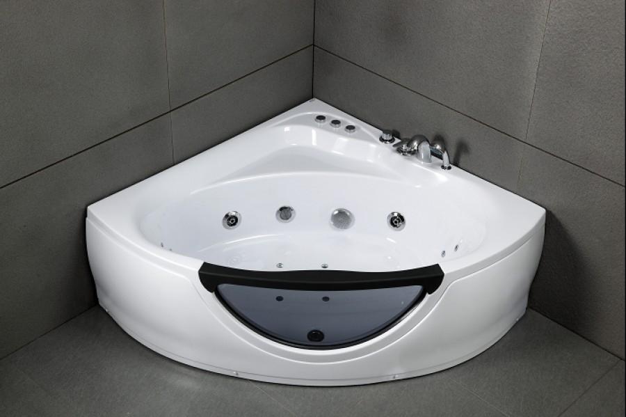 Baignoire d 39 angle baln o 135x135 meuble de salle de bain douche baignoire Baignoire douche angle