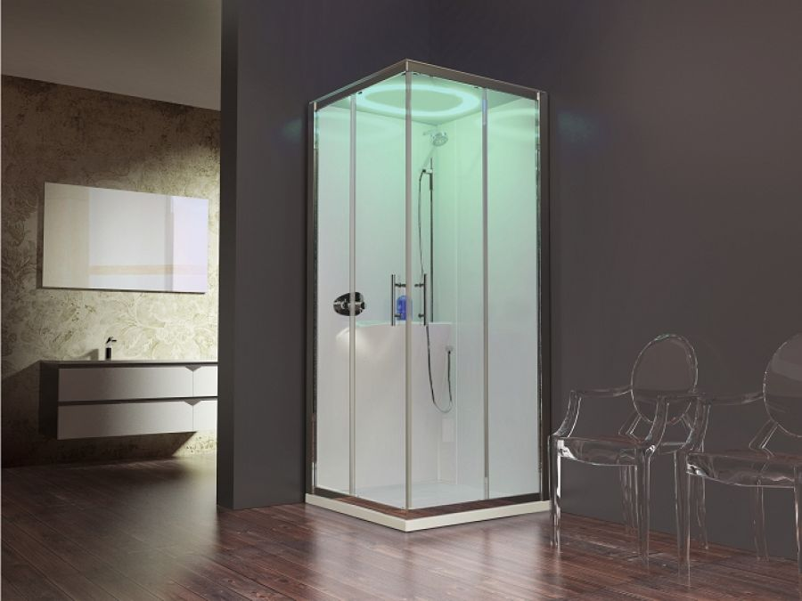 Cabine eon a80 standard coulissante receveur extra plat for Meuble sanitaire