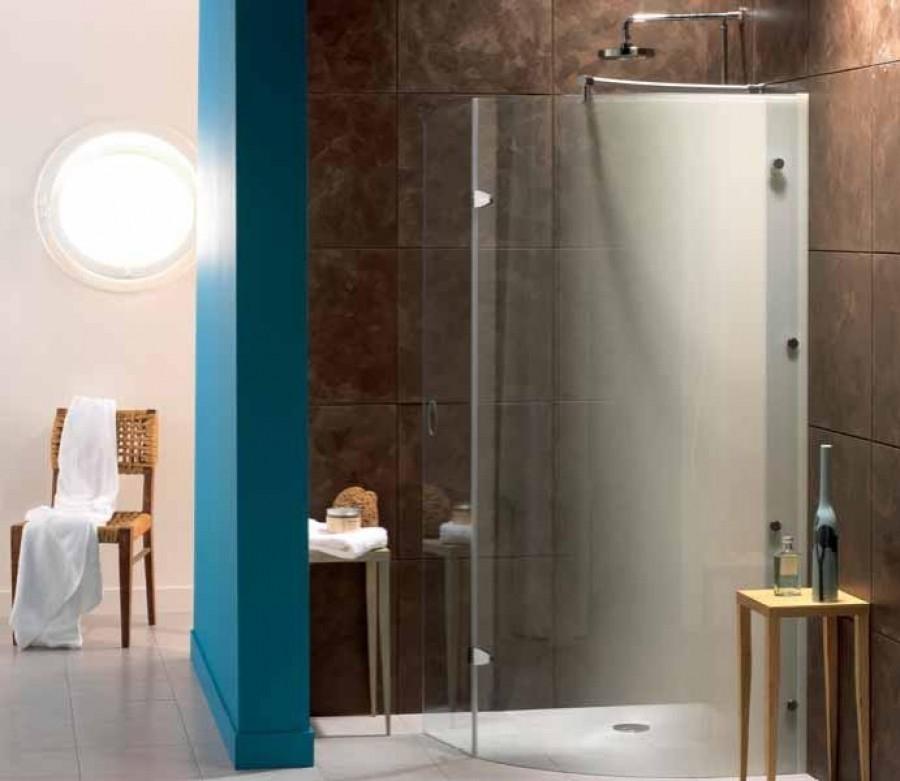paroi de douche fixe courbe avec d flecteur espace plus. Black Bedroom Furniture Sets. Home Design Ideas