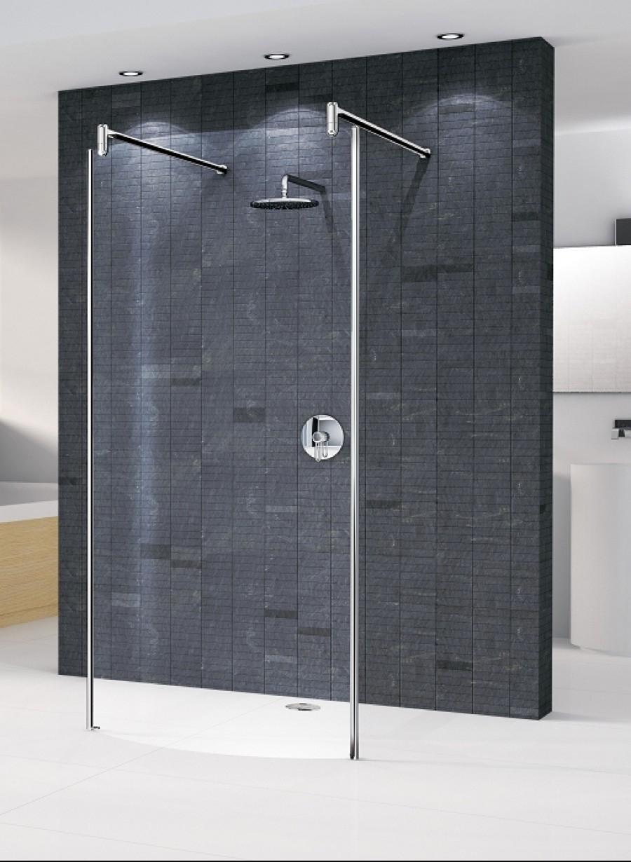 paroi de douche fixe courbe go 7 78 chrom meuble de salle de bain douche baignoire. Black Bedroom Furniture Sets. Home Design Ideas