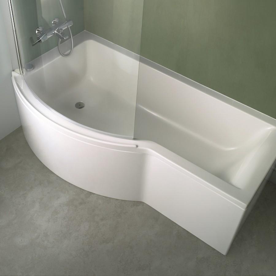 Baignoire douche asym trique nue connect gauche for Marque de robinetterie salle de bain