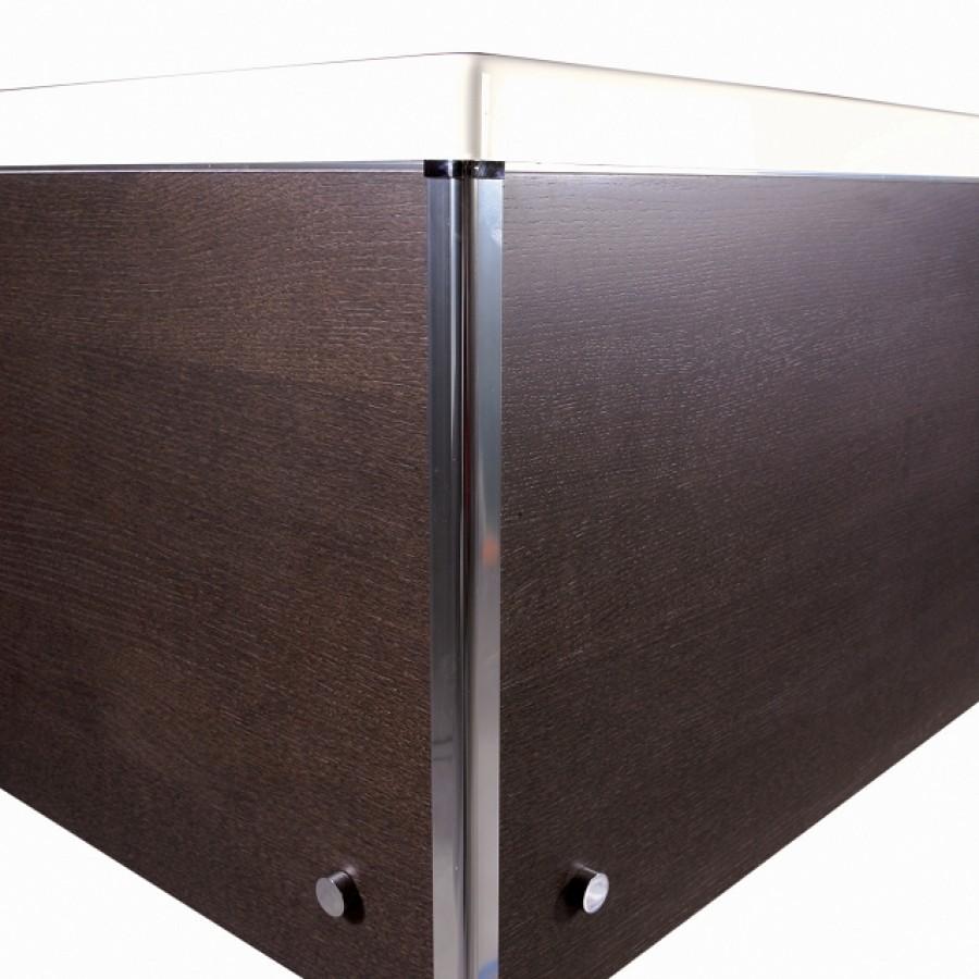 Tablier de baignoire retour bois fonc gamme for Meuble de douche