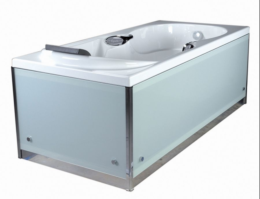 tablier en verre blanc pour baignoire kinedo fa ade gamme meuble de salle. Black Bedroom Furniture Sets. Home Design Ideas
