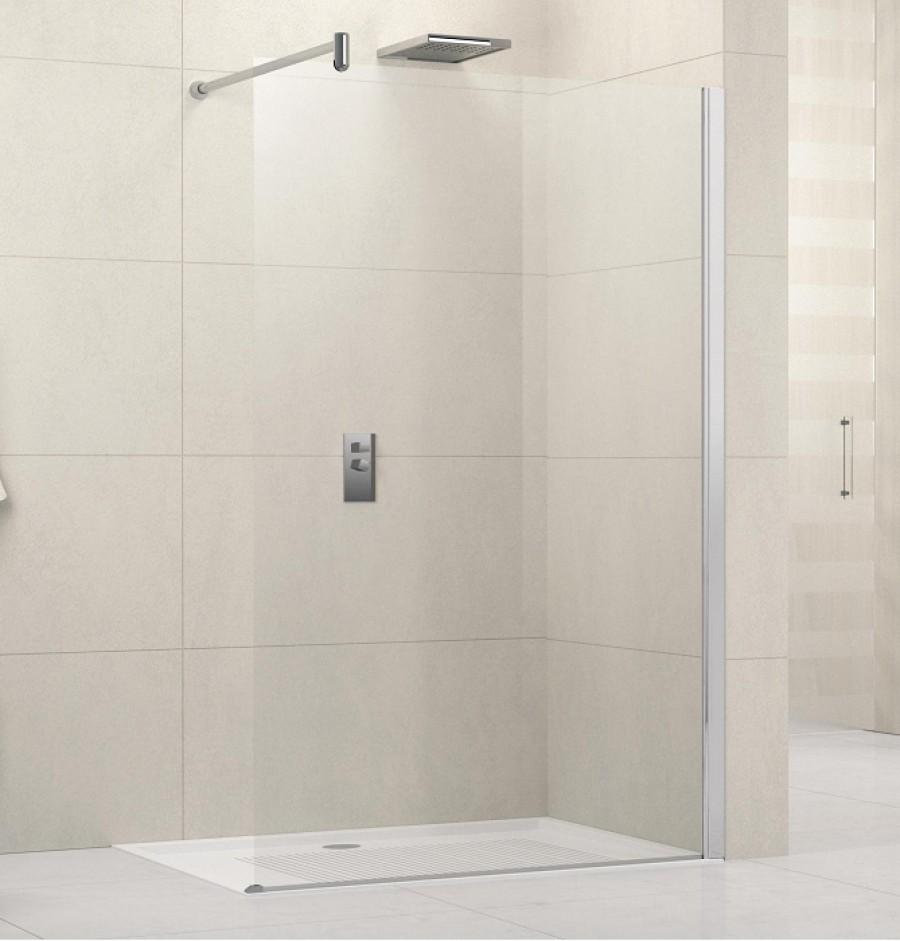 paroi de douche fixe lunes h transp 80 cm novellini