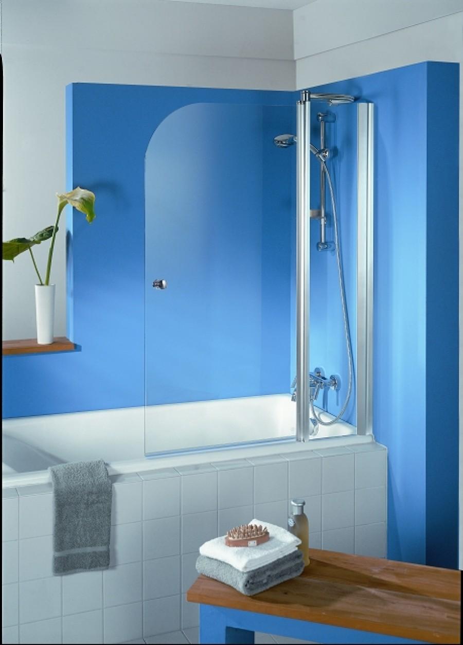 Pare baignoire 2 panneaux exklusiv meuble de salle de bain - Pare baignoire miroir ...
