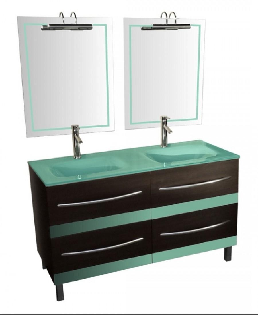 Meuble de salle de bains glass box 130 wenge ebay - Ebay meuble salle de bain ...