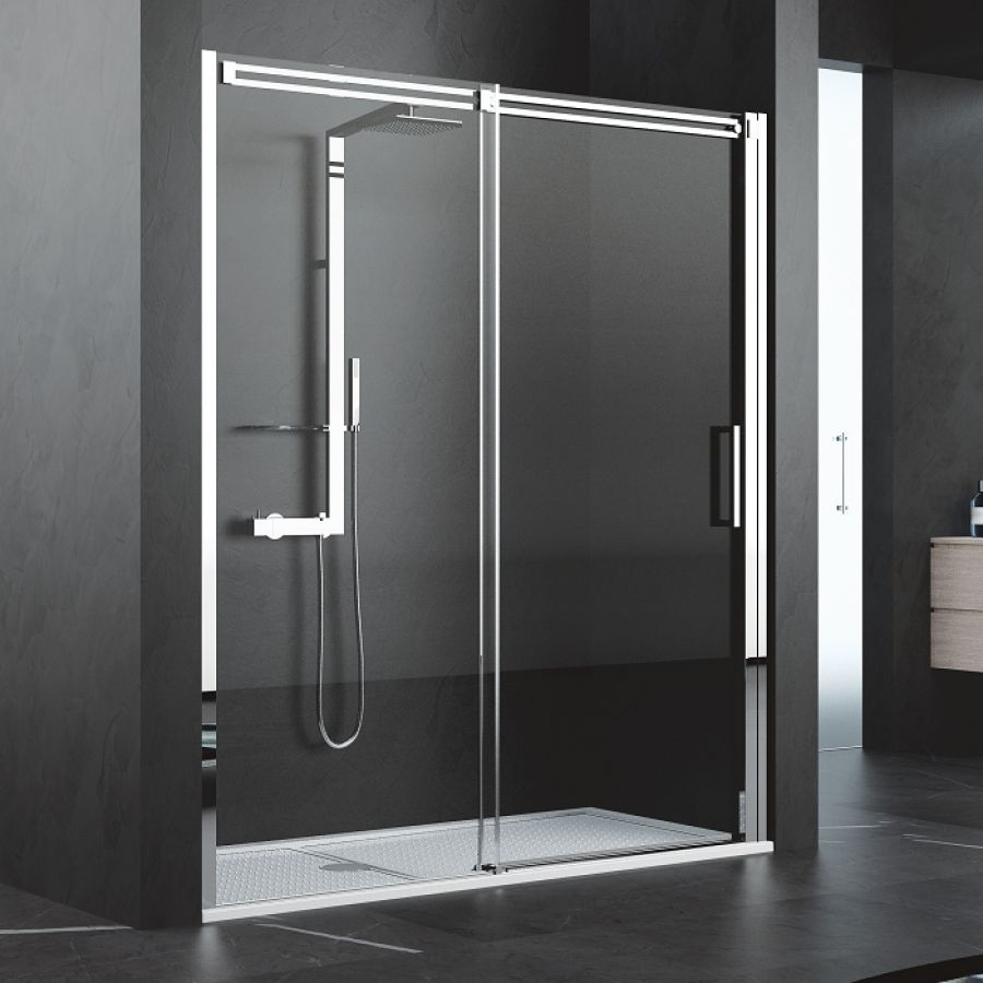 Porte coulissante diamanti 2p 170 cm for Porte coulissante douche 160