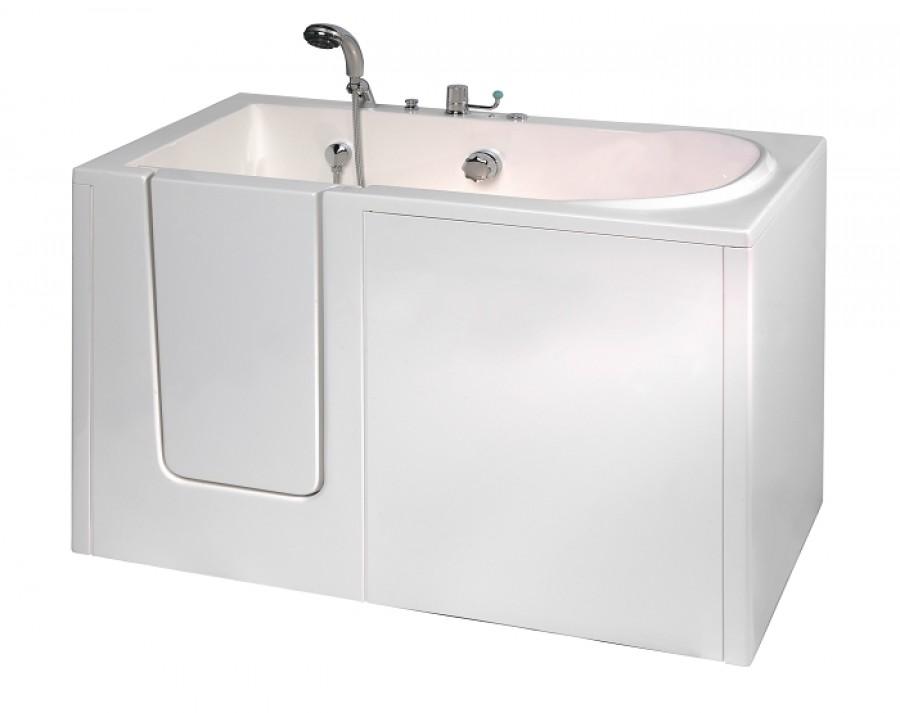 Baignoire porte avec hydromassage alize 128x70sanitaire for Baignoire a porte avec douche