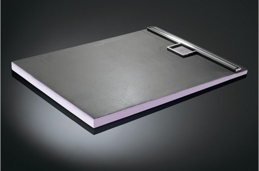 détails sur receveur a carreler a ecoulement lineaire 100×90 bondev