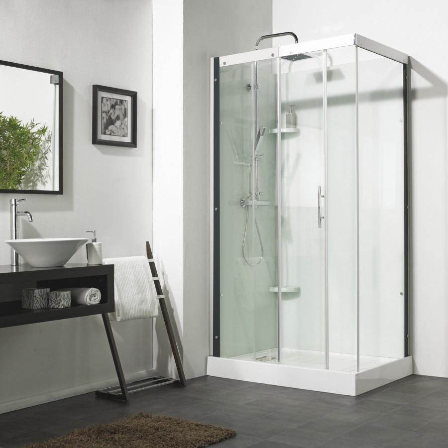 Cabine de douche rectangulaire flotille 3 meuble de sall - Baignoire cabine de douche ...