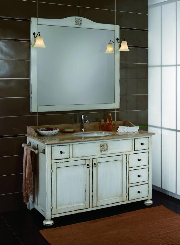 Meuble de salle de bain ricordi composition 28 blanc - Meuble salle de bain en coin ...