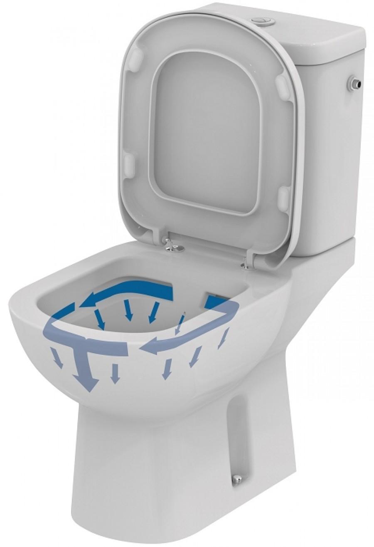 Pack wc sans bride sortie horizontale for Ventilateur salle de bain sans sortie
