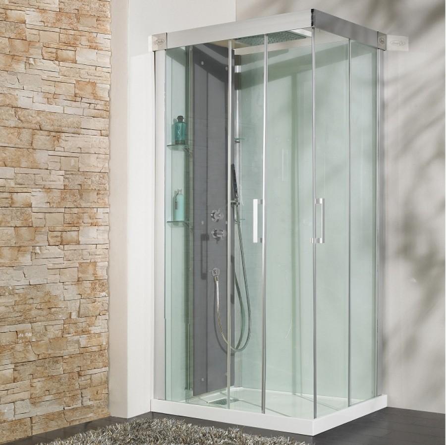 cabine de douche kineform thermostatique 100x80 coulissante meuble de. Black Bedroom Furniture Sets. Home Design Ideas