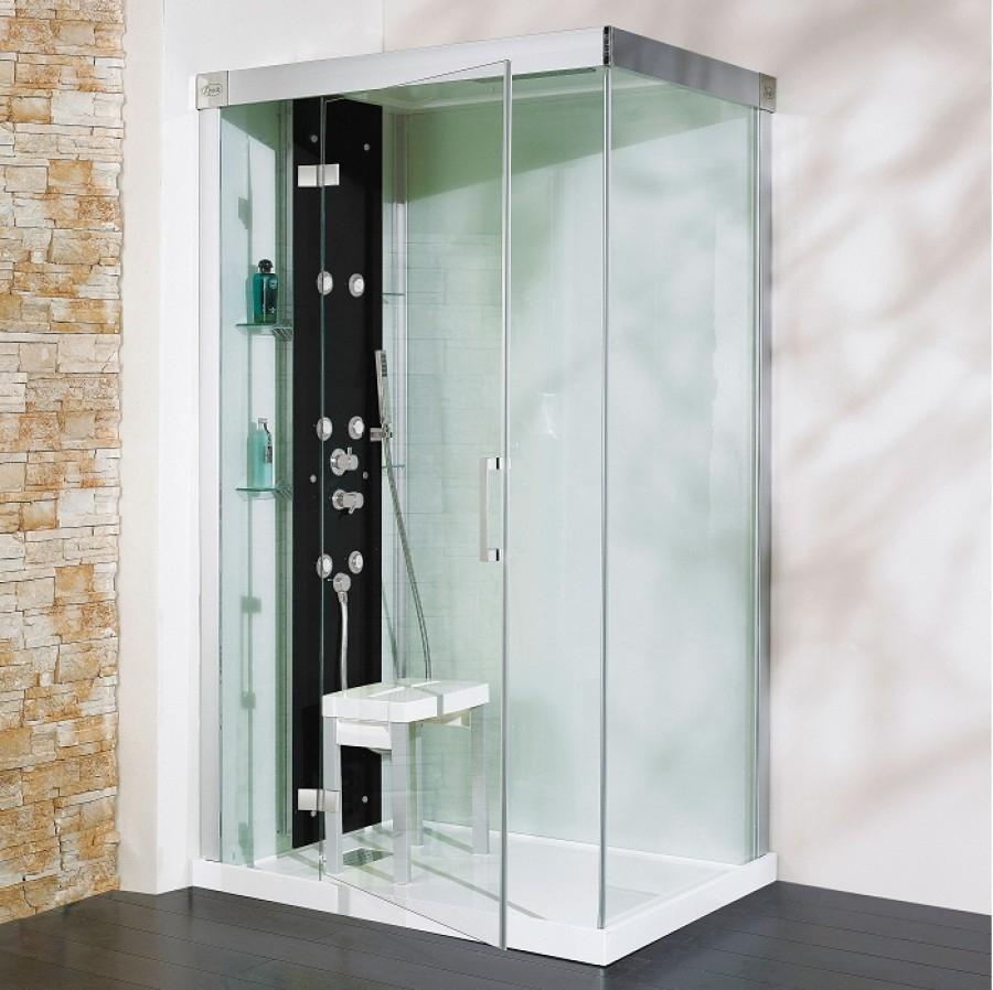 Cabine de douche kineform hydro hammam 120x90 pivotante for Meuble de douche