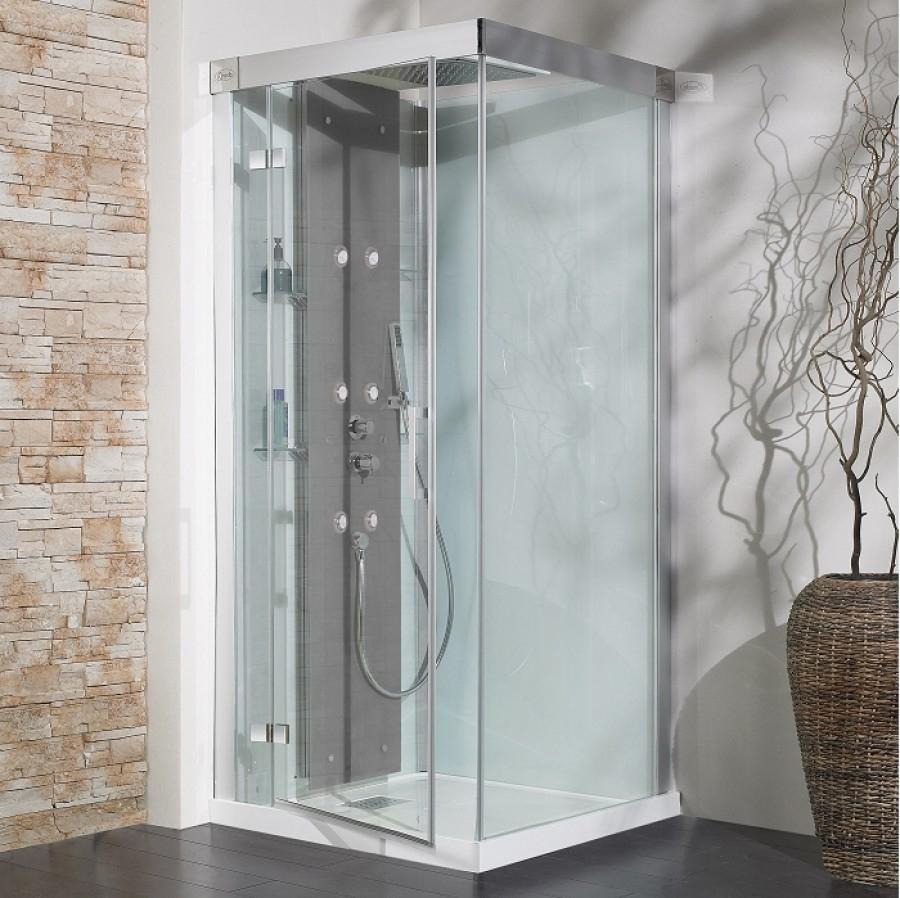 old cabine de douche hydromassante hammam 100x80 kineform 100 meuble de. Black Bedroom Furniture Sets. Home Design Ideas