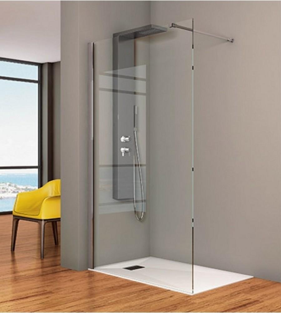 Paroi de douche simple smart solo 90 cm for Meuble sanitaire