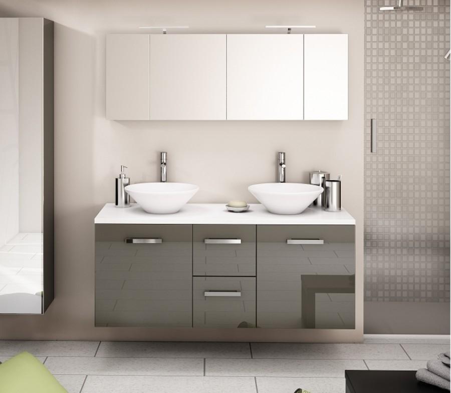 meuble double vasques loft 140cm cristal meuble de salle de bain douche. Black Bedroom Furniture Sets. Home Design Ideas