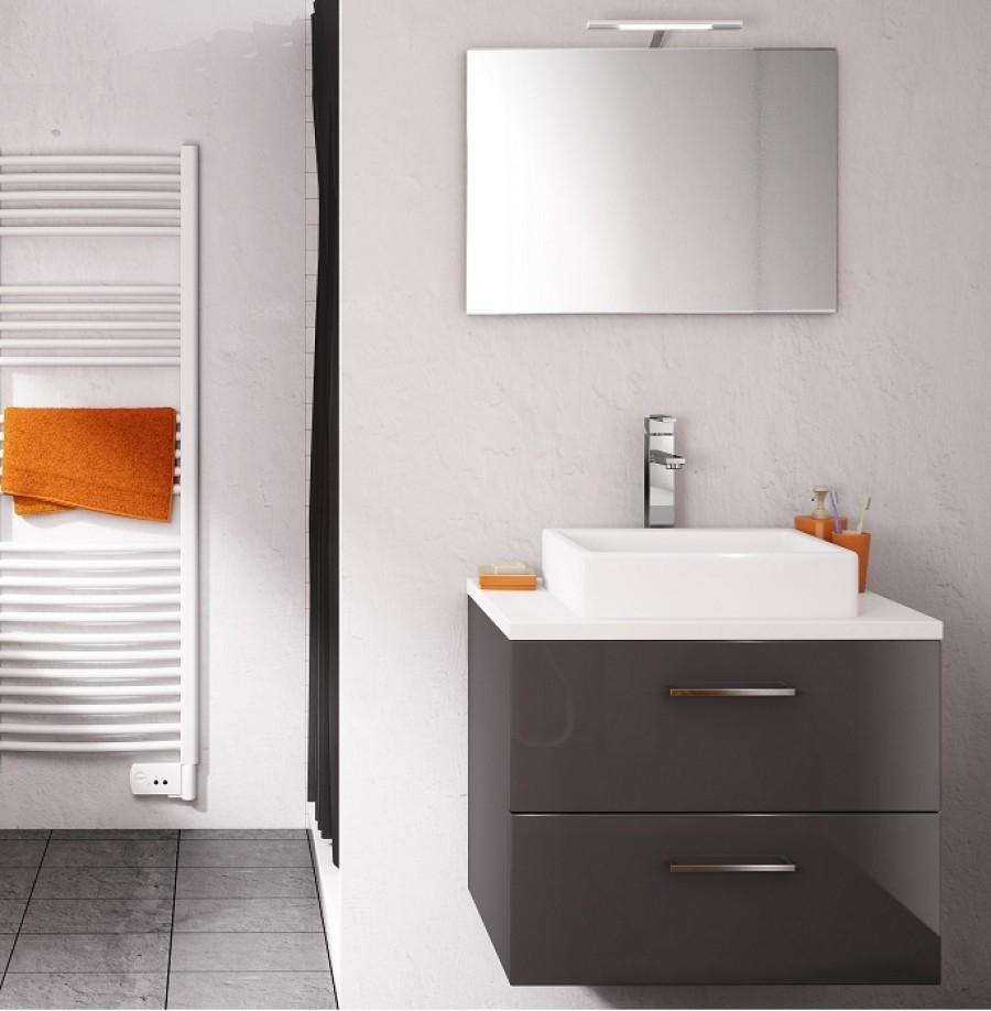 meuble simple vasque loft 70 cm opale meuble de salle de bain douche. Black Bedroom Furniture Sets. Home Design Ideas