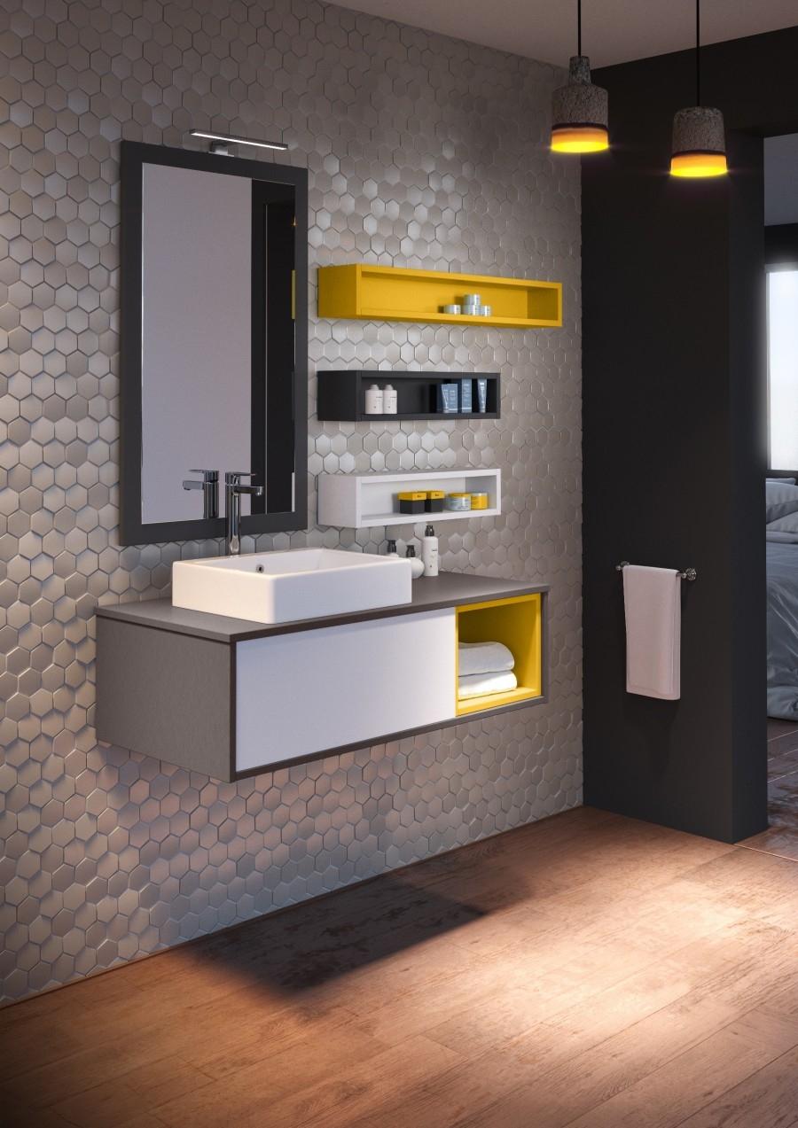 meuble simple vasque mosaique 109 cm opale blanc meuble de salle de bain. Black Bedroom Furniture Sets. Home Design Ideas