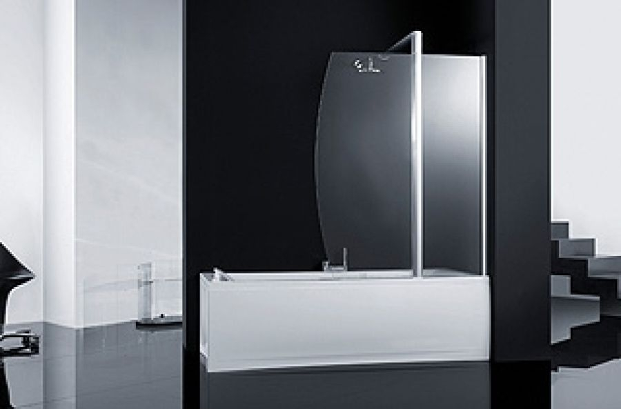 paroi baignoire fixe pivot sunv meuble de salle de bain douche baignoire. Black Bedroom Furniture Sets. Home Design Ideas