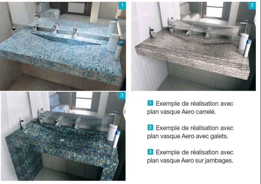 plan vasque carreler aro panodursanitairefr meuble de salle de bain douche baignoire - Plan Carreler Salle De Bain