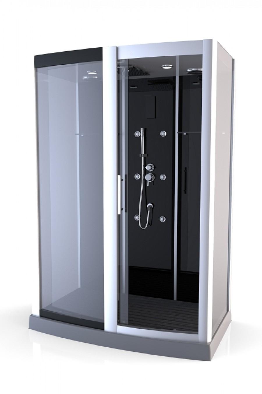 cabine de douche rectangulaire premium xxl 85x140cm meuble de salle de. Black Bedroom Furniture Sets. Home Design Ideas