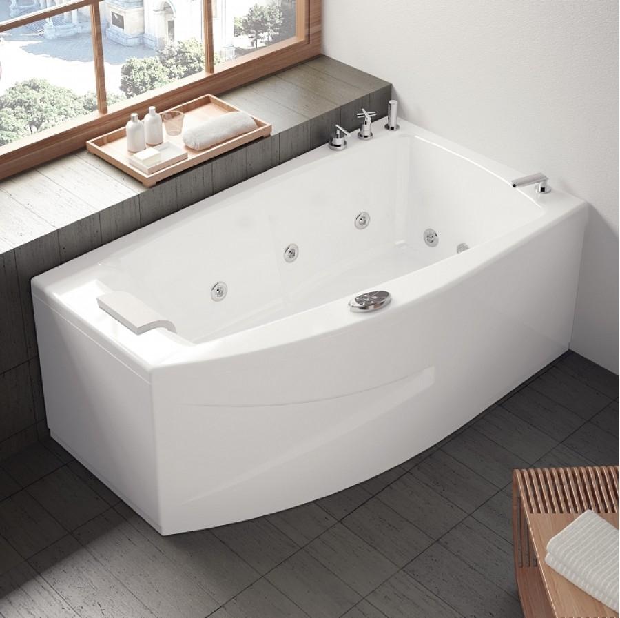 Baignoire baln o pure design 160x90 version gauche concept detente meuble de for Comdestockage baignoire balneo