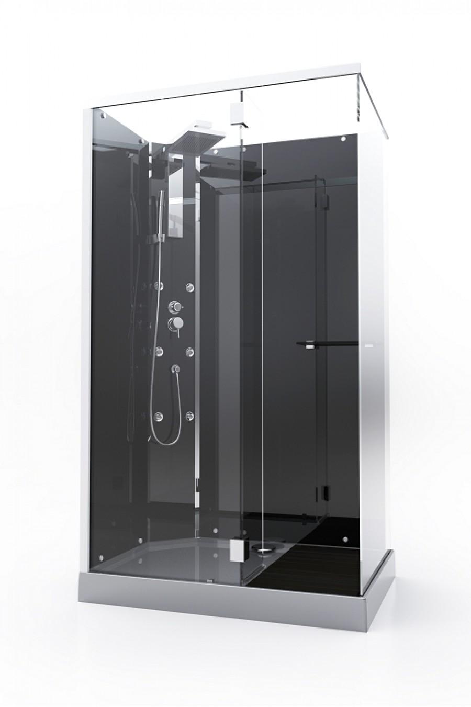 Cabine de douche rectangulaire quadrato 85x125cm for Cabine de douche baignoire