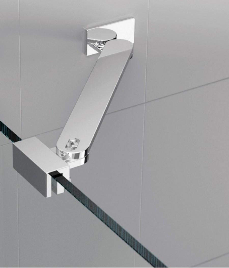 Barre de renfort d 39 angle 45cm pour paroi de douche - Barre de baignoire d angle extensible ...