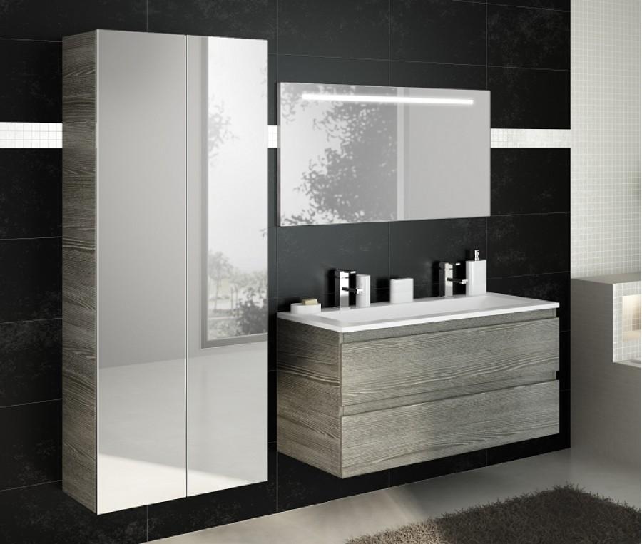 meuble double vasque 120cm rivage bois sci grissanitaire. Black Bedroom Furniture Sets. Home Design Ideas